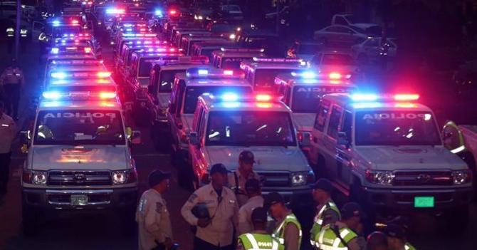 Marcha nocturna de la MUD hace que Caracas vea un policía de noche por primera vez en 20 años