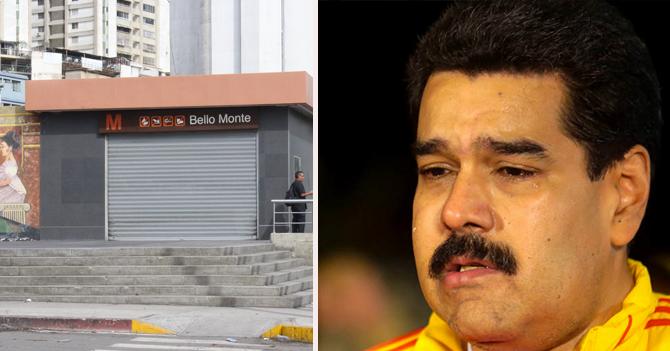 Maduro ve con nostalgia todos los días que tiene el Metro sin trabajar