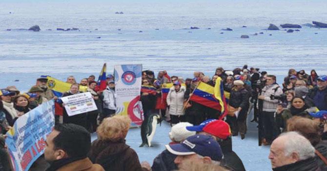 """Por no tener embajador, venezolanos en la Antártida le gritan """"asesino"""" a pingüino"""