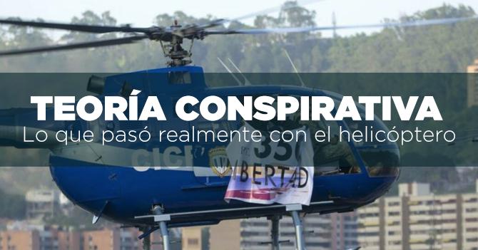 TEORÍA CONSPIRATIVA: Lo que pasó realmente con el helicóptero