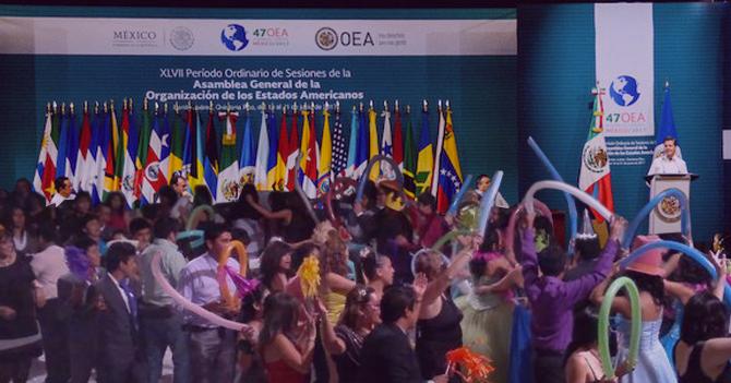 Cancilleres se despiden de Delcy Rodríguez con fiesta en la OEA donde no está invitada