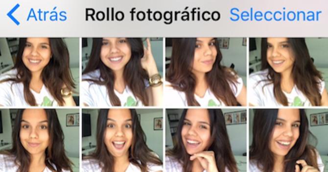Chama envía espontánea selfie después de 123 intentos