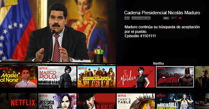CONATEL obliga a Netflix a pasar cadenas de Maduro