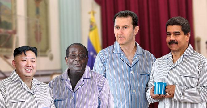 Al Assad, Mugabe y Kim Jong Un asisten a su primera pijamada en Miraflores