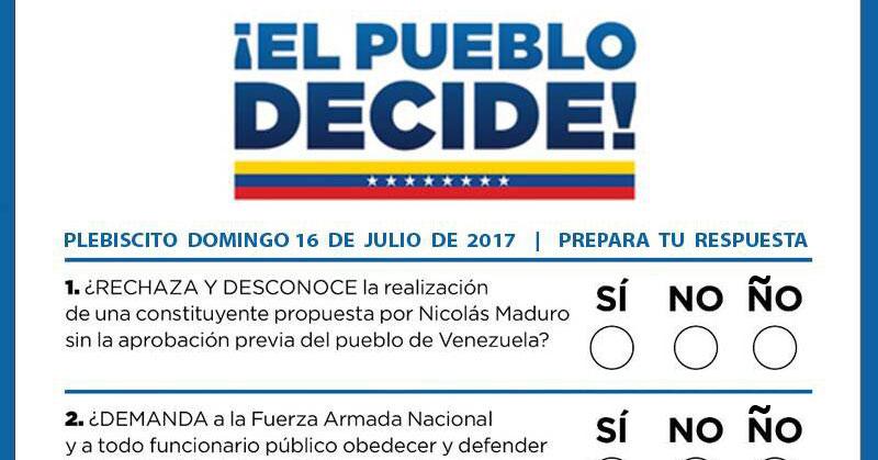Tarjetón del plebiscito tendrá opción ÑO para opositores malcriados