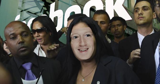 Katherine Harrington se disfraza de Zuckerberg para ingresar a oficinas de Facebook