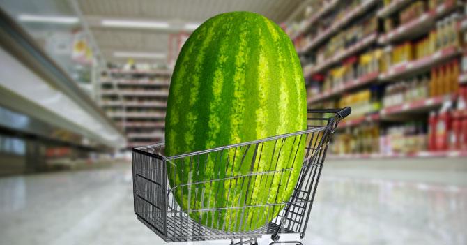 Supermercados reducen tamaño de carritos para que clientes no se depriman
