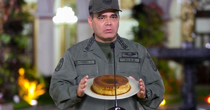 Alto mando militar prepara delicioso quesillo a Maduro