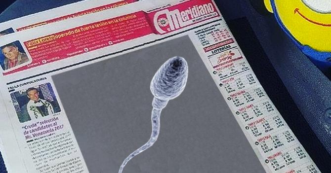 Meridiano pone en contraportada a espermatozoide que estará buena en 18 años
