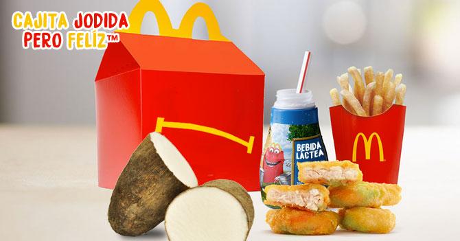 McDonalds lanza al mercado nueva cajita jodida pero feliz