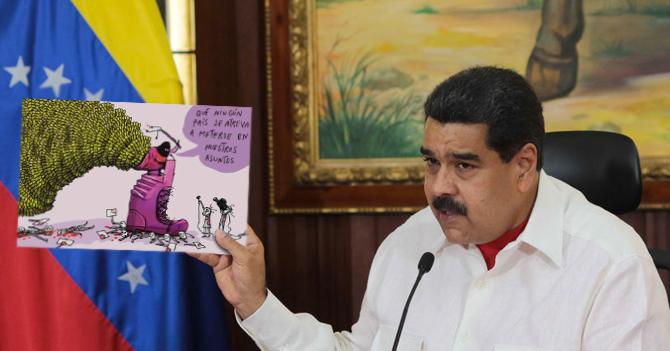 Gobierno usa caricatura de Weil para demostrar que no hay problemas de efectivo