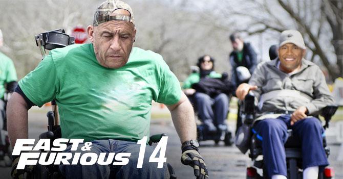 Vin Diesel y Dwayne Johnson correrán en sillas de ruedas en Rápido y Furioso 14