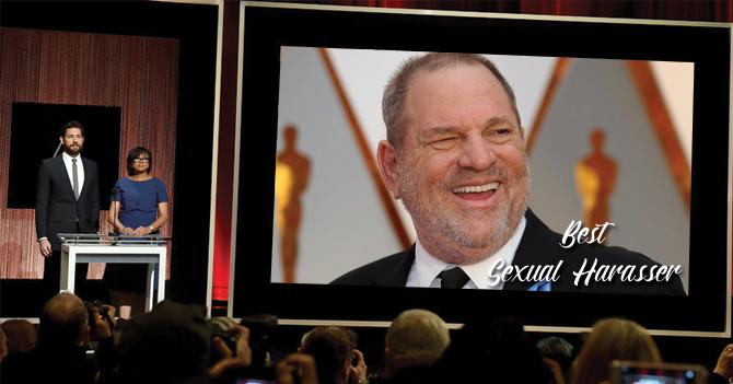 Academia estrena en los próximos Óscar categoría para mejor acosador sexual