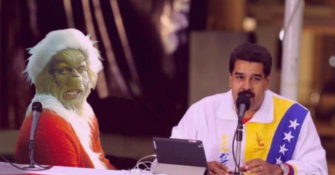 Grinch felicita al Gobierno venezolano por lo que hizo con las Navidades