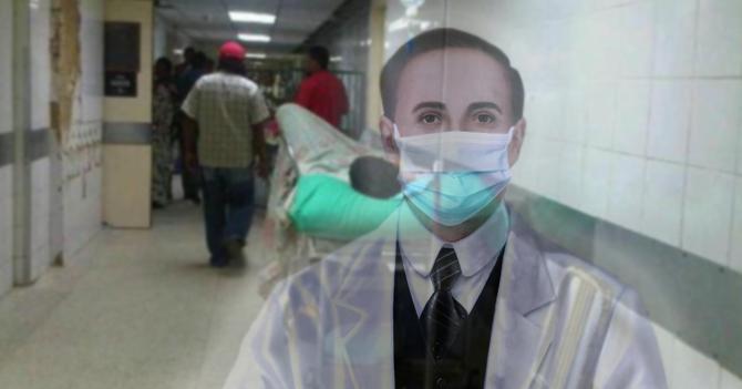 Fantasma de José Gregorio Hernández entra al Hospital Clínico a hacer milagro y se pone tapaboca