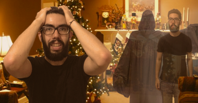 Fantasma de las navidades futuras le dice a joven que compre dólares