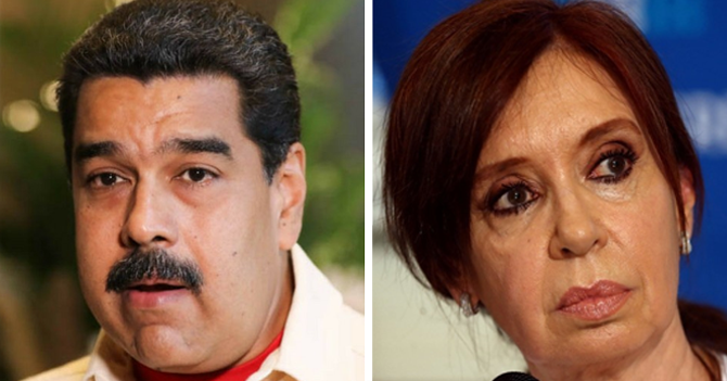 "Maduro preocupado por noticias de Cristina Fernández de Kirchner: ""Escribieron KFC al revés"""