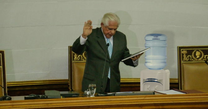 Asamblea Nacional cambia el botellón de agua