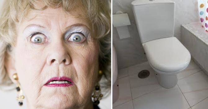Abuela escandalizada por poceta sin forro