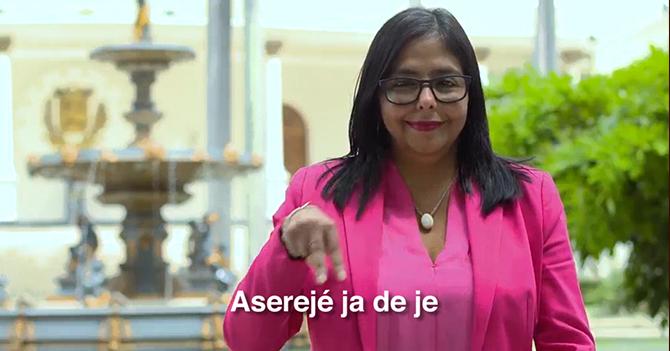 El mensaje del Gobierno en lenguaje de señas
