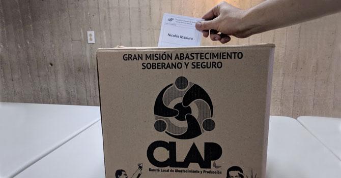 Caja CLAP vendrá con voto ya emitido a favor de Maduro