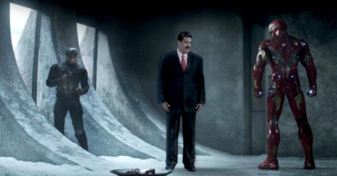 Avengers atienden llamado de la Asamblea Nacional y capturan a Maduro