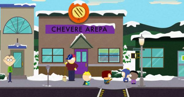 Alta migración de venezolanos hace que abran puesto de arepas en South Park