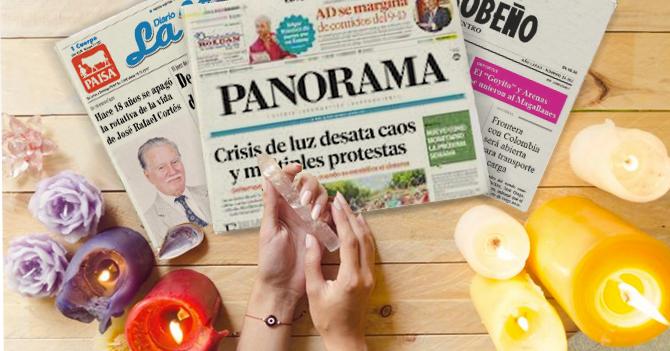 Bruja lee periódicos del interior para adivinar el futuro de Caracas