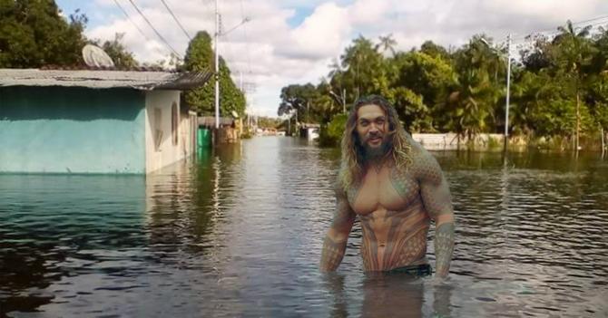 Gobierno denuncia la aparición de Aquaman en Amazonas