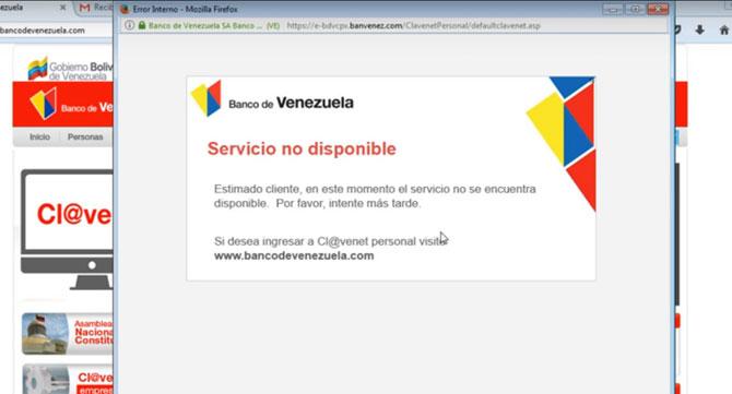 Directivos del Banco de Venezuela aseguran que su plataforma electrónica funcionará como siempre este fin de semana