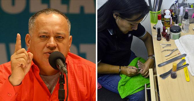 """Diosdado: """"Los únicos empresarios que están trabajando con las uñas son las manicuristas"""""""