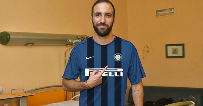 Higuaín vuelve a fallar y acude a presentación del Milán con camisa del Inter