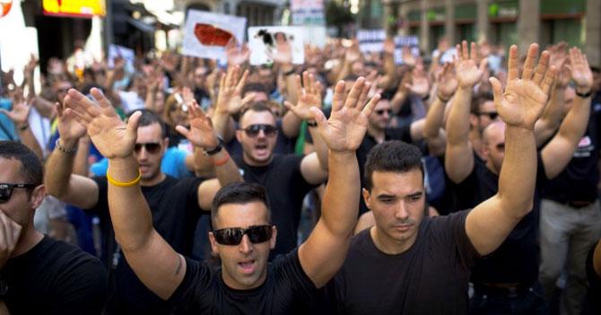 Gremio de sopladores de bistec protestan por escasez de carne