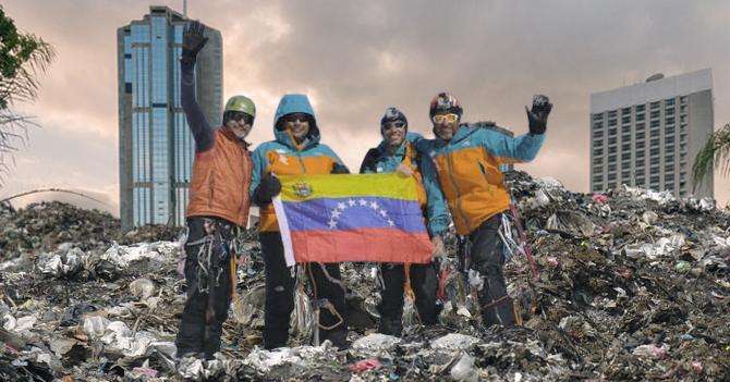Proyecto Cumbre asciende montaña de basura en Caracas