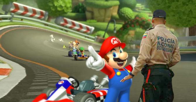 PNB monta alcabala en Mario Kart