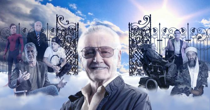 Stan Lee hace cameo en el cielo