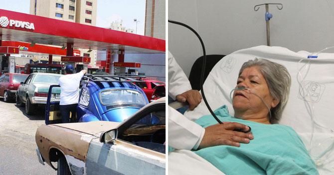 Colas de gasolina hacen que señora que cayó en coma en el paro petrolero de 2002 crea que sigue en el mismo año
