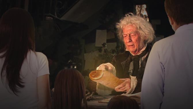 Familia consigue pan de jamón barato en el Callejón Diagon