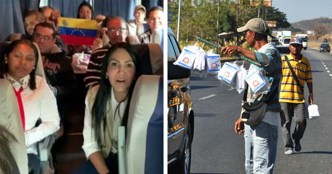 Panelas de San Joaquín retienen a caravana de diputados por 20 minutos