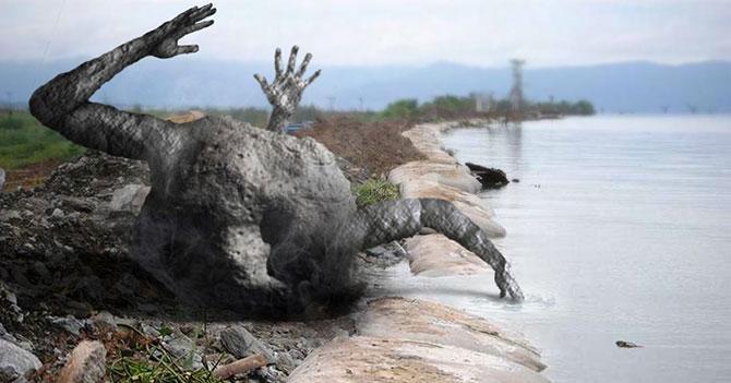 Meteorito cae en Lago de Valencia y le salen 3 brazos
