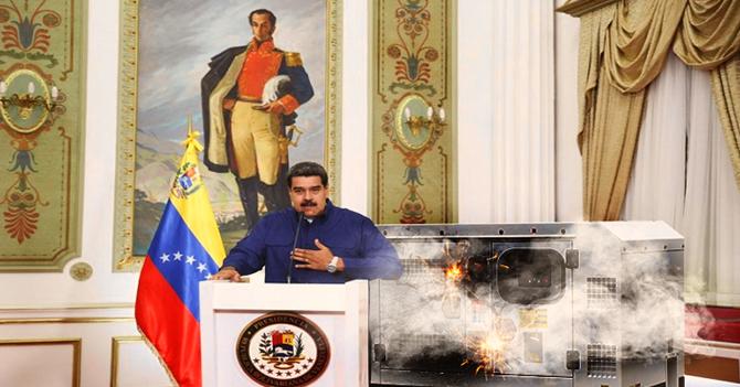 Generador de excusas de Maduro sobrecarga sistema eléctrico