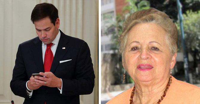 Marco Rubio recibe nudes de señora María Alejandra López