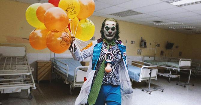 Payaso de Hospital se convierte en el Joker después de visitar hospital venezolano