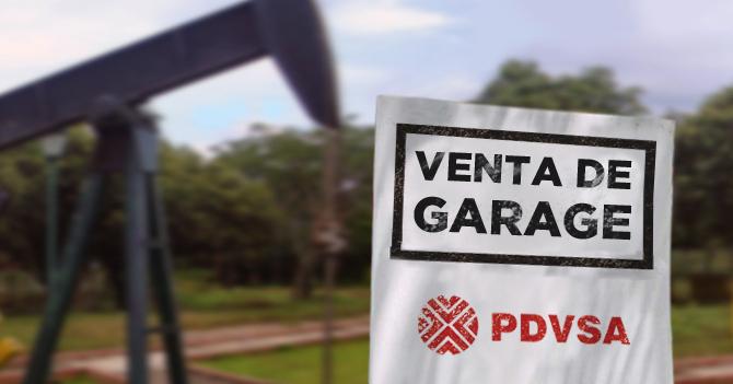 Maduro pone a PDVSA en venta de garage