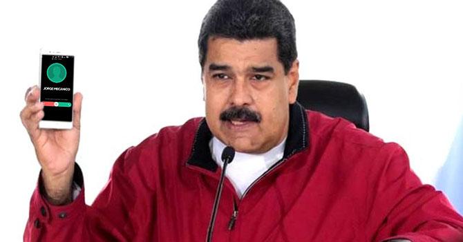"""Maduro le pregunta a Padrino López que quién es el """"Jorge Mecánico"""" que tiene en su teléfono"""