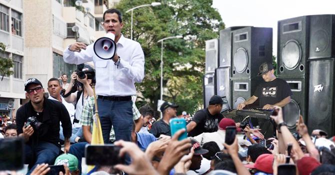 Conatel persigue a Guaidó con miniteca para que nadie lo oiga