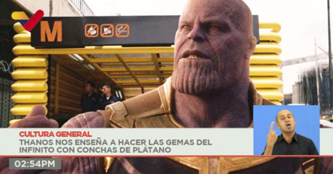Thanos agradece a Maduro por eliminar al 50% de la población venezolana