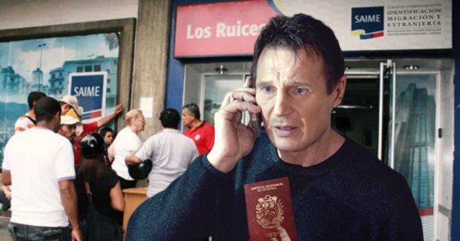 Joven logra obtener su pasaporte usando a Liam Neeson como gestor