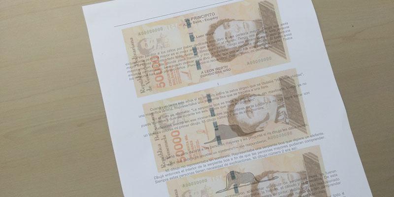 BCV pide a ciudadanos que traigan su propio papel para imprimirle billete nuevo