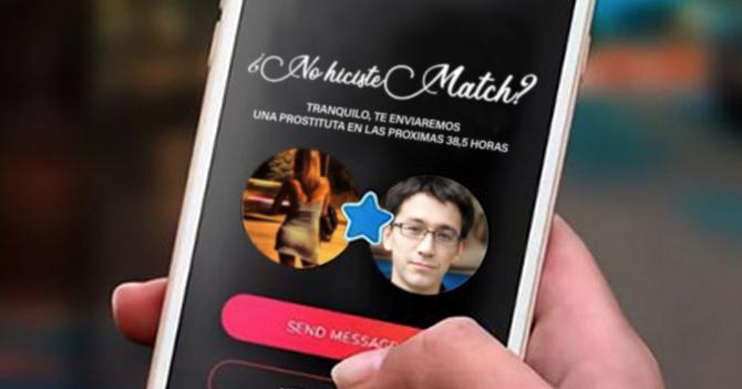 Tinder pagará prostituta de consolación a usuarios que no hagan match